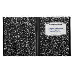 Composition Book Retro School Look iPad Case