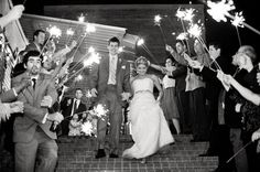 4th of July Wedding Ideas - So much fun! Better than bubbles or birdseed or rice!