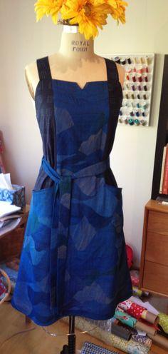 Anya Apron Dress in Nani Iro and Cotton&Steel fabric