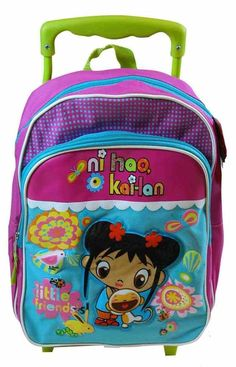 ddfde4c6de Ni Hao Kai Lan 12 Inch Toddler Rolling Backpack   Learn more by visiting  the image · Cool BackpacksBest Kids BackpacksBack To School ...