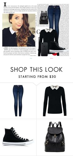 """""""Zoella"""" by lollyhhs on Polyvore featuring Oris, 2LUV, Dorothy Perkins and Converse"""