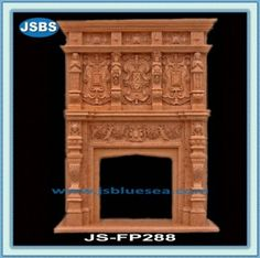 Stone Carved marble fireplace mantel Double Fireplace, Marble Fireplace Mantel, Marble Fireplaces, Fireplace Surrounds, Fireplace Mantels, Stone Fountains, Stone Cladding, Stone Veneer, Wooden Crates