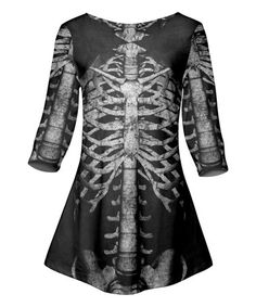 Another great find on #zulily! Black & Gray Skeleton Tunic - Plus Too #zulilyfinds