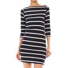 Classic Striped Boatneck Dress