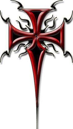 tribal cross tattoo 2 by blakewise on DeviantArt Tattoos And Body Art tribal cross tattoo Tribal Cross Tattoos, Celtic Cross Tattoos, Cross Tattoo Designs, Tribal Art, Skull Tattoos, Body Art Tattoos, Sleeve Tattoos, Skull Stencil, Skull Art