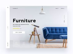 Website Furniture Company - Daily UI Challenge designed by Christian Vizcarra. Connect with them on Dribbble; Website Design Layout, Web Design Tips, Ui Design, Layout Design, Web Layout, Graphic Design, Interior Design, Bedroom Furniture Makeover, Room Furniture Design