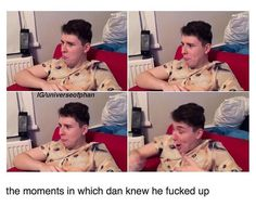 It was at this moment, Daniel knew, he fucked up. Phil 3, Dan And Phil, Dans Fans, Phan Is Real, Danisnotonfire And Amazingphil, Cat Whiskers, Tyler Oakley, Phil Lester, Dan Howell