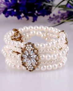 Feminine Ivory Simulated Pearl Bracelet - - New In Cute Wedding Dress, Bling Wedding, Make Me Chic, Looks Style, My Style, Fashion Accessories, Fashion Jewelry, Fashion Beauty, Womens Fashion