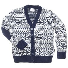 FAIR ISLE PROFESSOR PATCH CARDIGAN (BABY)