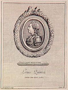 Louis XV, engraved by Madame de Pompadour (Louvre)