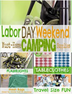 Perfect for our camping trip on Labor Day Weekend... a TON of great ideas!!