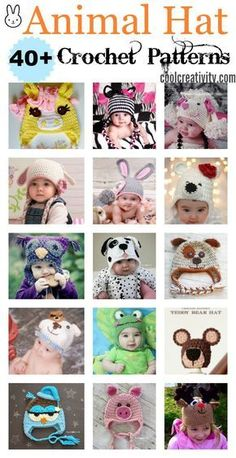 40+ Crochet Animal Hat with Patterns