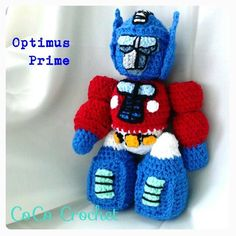 Hey, I found this really awesome Etsy listing at https://www.etsy.com/listing/175007410/crocheted-optimus-prime-transformers