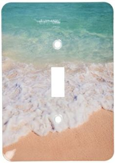 3dRose lsp_187298_1 Blue and Green Water Off Orient Beach in St Maarten, West Indies Light Switch Cover