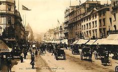 London England 1908 Regent Street Major Shopping Area Antique Vintage Postcard London England UK Circa 1908 Regent Street which is one of the major shopping streets in London's West End. Unused collec