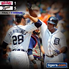 Great outing by Drew Smyly backed by Torii Hunter and the Tigers offense in win over the Indians. Recap: http://atmlb.com/1zV3ENy