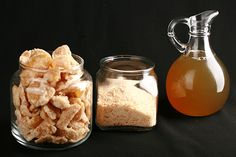 How to be REALLY efficient with some fresh ginger - just 3 ingredients, and a progression of cooking ... and you get three separate products!  Ginger syrup, candied ginger, and ginger sugar!