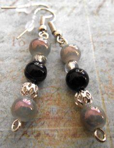 Opalescence in the Dark earrings