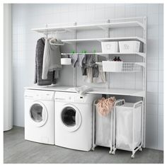 IKEA - ALGOT, Wall upright/shelves/drying rack, The parts in the ALGOT series can be combined in many different ways and easily adapted to your needs and space.You click the brackets into the ALGOT wall uprights wherever you want to have a shelf or accessory – no tools needed.Can also be used in bathrooms and other damp indoor areas.