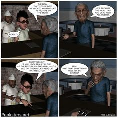 Punksters.net punk rock comic strip number 80. #comicstrip #humor #fastfood