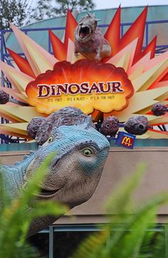 Dinosaur attraction sign at Disney's Animal Kingdom of Walt Disney World in Orlando, Florida.
