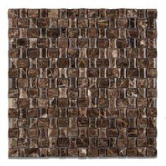 Emperador Dark 3D Small Bread Polished Mosaic Tile