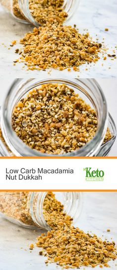 This keto vegan Dukka is a low carb twist on the traditional Egyptian condiment. It adds flavor to so many dishes or on its own! Ketogenic Recipes, Diabetic Recipes, Low Carb Recipes, Snack Recipes, Candida Recipes, Keto Snacks, Ketogenic Diet, Healthy Recipes, Low Carb Sauces