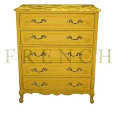 yellw painted furniture | ... Yellow Dresser By Poppyseed Living – French Provincial Furniture