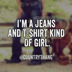 Jeans and a t-shirt, perfect!
