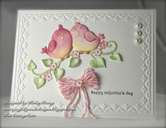 Happy Sunday everyone! Today I have a darling Valentine's Day card for you using the Sweetheart Lovebirds CottageCutz Die from The Scrap. Wedding Anniversary Cards, Wedding Cards, Card Making Inspiration, Making Ideas, Valentine Love Cards, Valentines, Cute Cards, Cards Diy, Bird Cards