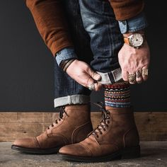@whaleysworld killing it with all the details. Great pair of Thursday Boots, Denim, Watch and accessories. Follow @runnineverlong on Instagram for more inspiration #thursdayboots #denim #rugged #boots