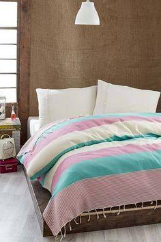 Rózsaszín-Menta pigue ágytakaró