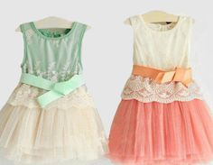 cute lace and tulle dresses for my girls