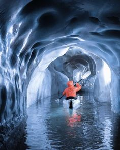 Who wants to kayak in ice caves? Tirol Austria Photo by Camping Photo, Kayak Camping, Canoe And Kayak, Sea Kayak, Kayak Paddle, Camping Hammock, Canoe Trip, Kayaks, Places To Travel