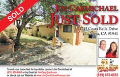 Great La Mesa Home, Happy Clients!! Call us 619-670-6663 Carmichael Homes for ALL of your Real Estate needs.