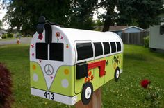 Custom Made To Order Volkswagen Bus Mailbox by TheBusBox - http://www.etsy.com/shop/TheBusBox?ref=seller_info