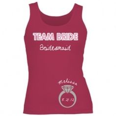 If custom shirts will be involved, I like the rest (except the bride\'s shirt) to say the same thing.  \