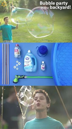 Why do itty-bitty bubbles when you can go gigantic? Making them is easier than… Summer Activities, Craft Activities, Activity Ideas, Summer Crafts, Fun Crafts, Crafts For Kids, Fun Games, Games For Kids, Giant Bubbles