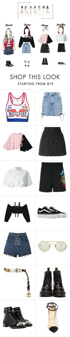 """""""G.R.L.Z -  """"Whatta Man"""" M/V  Vocal Part"""" by ygentertainment on Polyvore featuring mode, Moschino, Topshop, Marc Jacobs, Kenzo, Gucci, M.Y.O.B., Vans, Linda Farrow et Chanel"""
