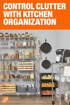The Home Depot has everything you need for your home improvement projects. Click through to learn more about our storage and organization offerings. Kitchen Organization Pantry, Kitchen Pantry, Diy Kitchen, Organization Hacks, Kitchen Storage, Kitchen Decor, Home Improvement Projects, Home Projects, Home Depot