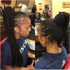 23 Renewed Goddess Braids Ponytail Hairstyles 23 Renewed Goddess Braids Ponytail HairstylesBest 23 ideas of goddess braids ponytail hairstyles for African American women. This one is a r # Braids ponytail african american Braided Ponytail Hairstyles, Box Braids Hairstyles, Braided Updo, Curly Ponytail, Goddess Hairstyles, Ponytail Haircut, Cornrow Ponytail, Hairstyle Braid, Braids Cornrows