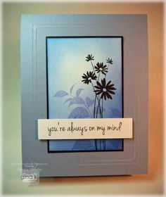 Card by Theresa Momber. I like how she frame the center with the score lines