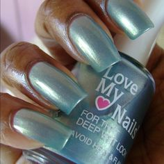 Chrome Love My Nails Teal For Two 0.5oz Chrome Love My Nails Polish Teal For Two number 1568 is a beautiful shade of teal that you will fall in love with! This incredible polish has a stunning chrome like finish that is provided due to the silver throughout the polish  Please Note: colors displayed may appear different from actual color and that the color quality may vary depending on your monitor's color setting and resolution. Other