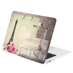 TOP CASE - Paris in Air Graphics Rubberized Hard Case Cover for MacBook Air 13""