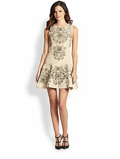 RED Valentino Jewel-Print Dress