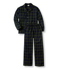 Men's Scotch Plaid Flannel Pajamas - LL Bean, monogrammed