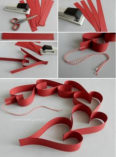 Valentijn hartjes slingers - Homemade by Joke day crafts diy Valentijn hartjes slingers - Homemade by Joke Paper Crafts For Kids, Diy For Kids, Diy And Crafts, Mothers Day Crafts, Valentine Day Crafts, Valentine Hearts, Romantic Room Decoration, Metal Coat Hangers, Heart Garland
