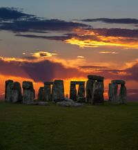 Stonehenge in Wiltshire, England. On 21st September, 1915 Stonehenge was sold at auction to Mr C H Chubb for £6,000 as a present for his wife. Mr Chubb presented it to the nation three years later as his wife didn't think it suited her :)