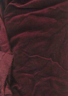 "cotton Velvet fabric 44""~dark Red Wine"