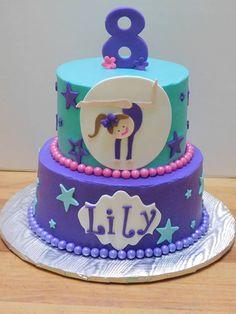 Gymnast Birthday Cake Purple Cake Girl Birthday
